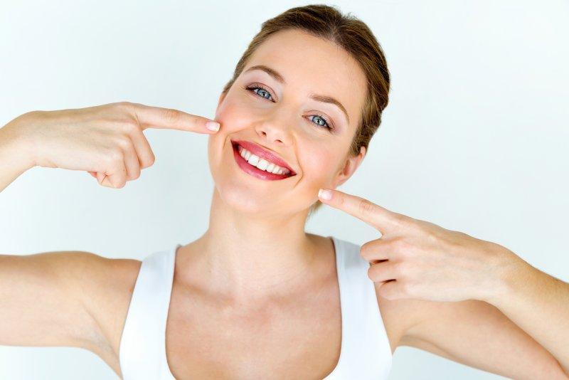 attractive young woman beautiful teeth