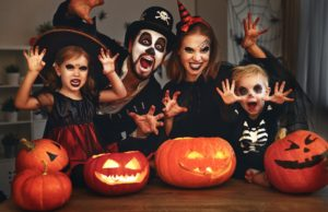 Family not worried about cavities after Halloween.